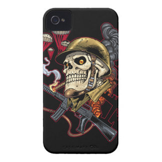 Airborne Marine Corps Parachute Skull by Al Rio Case-Mate iPhone 4 Cases