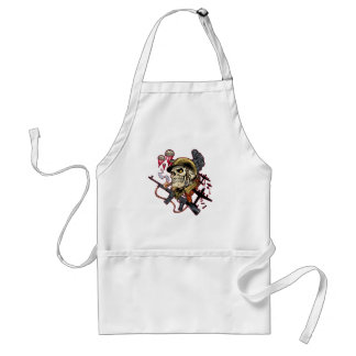 Airborne or Marine Paratrooper Skull with Helmet Apron