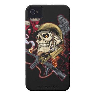 Airborne or Marine Paratrooper Skull with Helmet iPhone 4 Case-Mate Cases