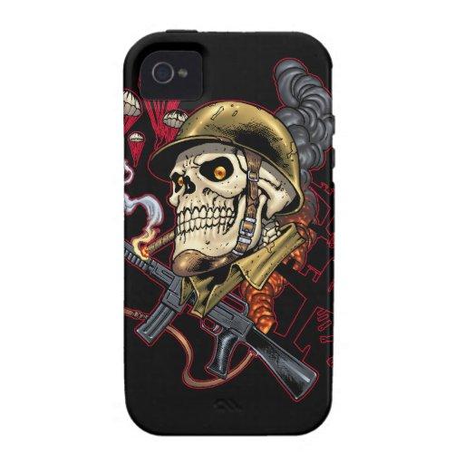 Airborne or Marine Paratrooper Skull with Helmet Case-Mate iPhone 4 Case