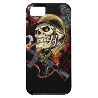 Airborne or Marine Paratrooper Skull with Helmet iPhone 5 Cover
