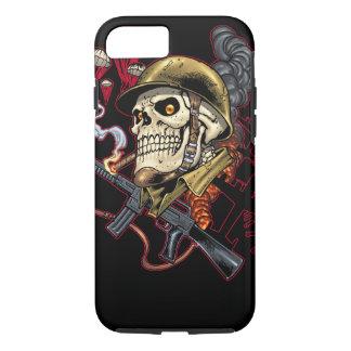 Airborne or Marine Paratrooper Skull with Helmet iPhone 7 Case
