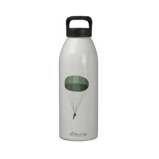 Airborne Paratrooper Reusable Water Bottle