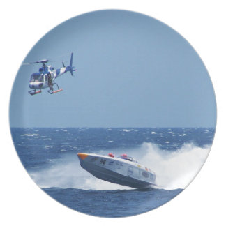 Airborne Powerboat And Helicopter Plate