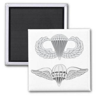 Airborne Rigger Square Magnet