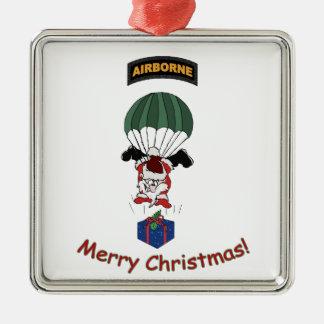Airborne Santa Christmas Ornament