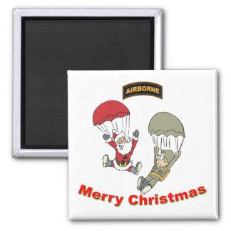 Airborne Santa II Light T-Shirt Square Magnet