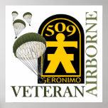 Airborne Veteran - 509th PIR Poster