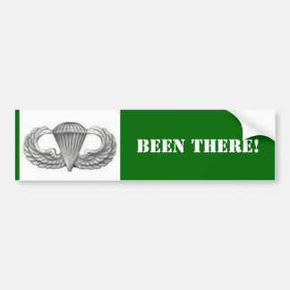 airborne wings, BEEN THERE! Bumper Sticker