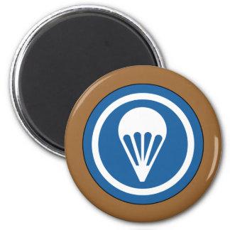 Airborne WWII CAP Patch 6 Cm Round Magnet