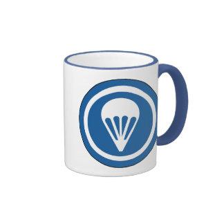 Airborne WWII CAP Patch Ringer Coffee Mug