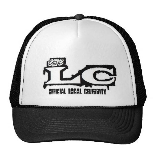 airbrush lc logo, Official Local Celebrity Mesh Hat
