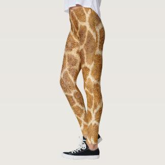 Airbrushed Giraffe Print Leggings