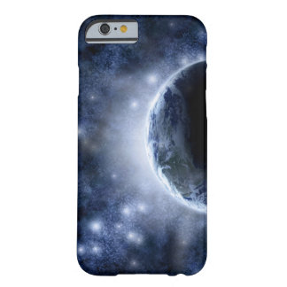 Airbrushed night sky full of stars around planet barely there iPhone 6 case