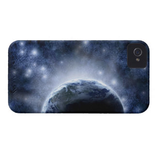 Airbrushed night sky full of stars around planet Case-Mate iPhone 4 case