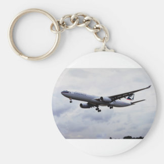 Airbus A330 Basic Round Button Key Ring