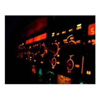 Airbus Cockpit Detail 4 Postcard