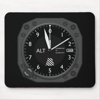 Aircraft Altimeter Image Mouse Mat