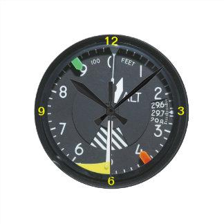 Aircraft Altimeter Indicator Gauge Wall clock