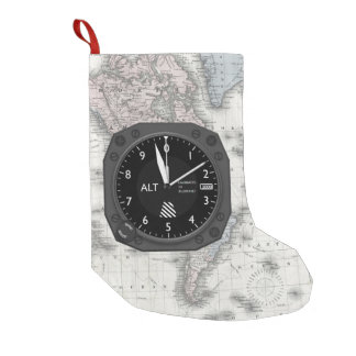 Aircraft Altimeter Small Christmas Stocking