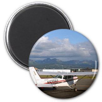 Aircraft, Anchorage, Alaska 6 Cm Round Magnet