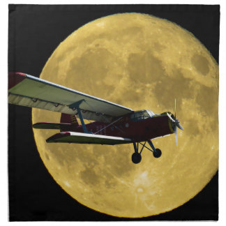 Aircraft and the moon napkin