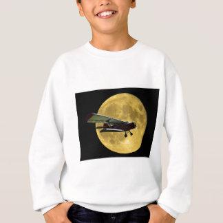 Aircraft and the moon sweatshirt