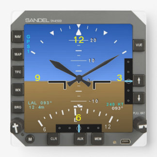 Aircraft Attitude Artificial Horizon wall Clock