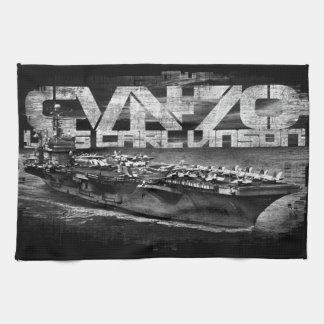 Aircraft carrier Carl Vinson Kitchen Towels
