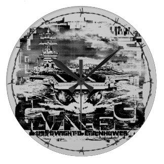 Aircraft carrier D.D.Eisenhower Acrylic Wall Clock