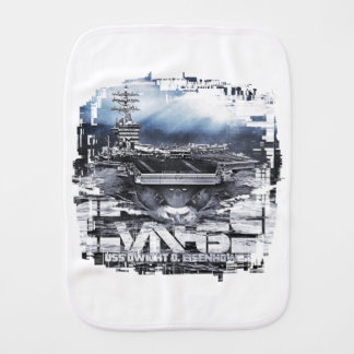 Aircraft carrier Dwight D. Eisenhower Burp Cloth