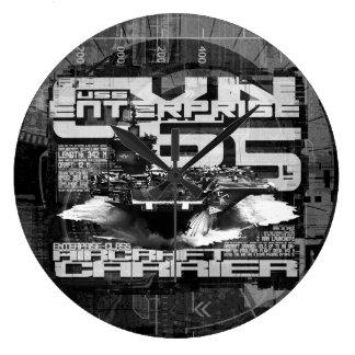 Aircraft carrier Enterprise Acrylic Wall Clock