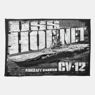 Aircraft carrier Hornet Kitchen Towels
