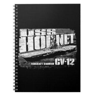 Aircraft carrier Hornet Spiral Photo Notebook