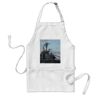Aircraft Carrier In New York Standard Apron