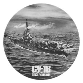 Aircraft carrier Lexington Fuji plate