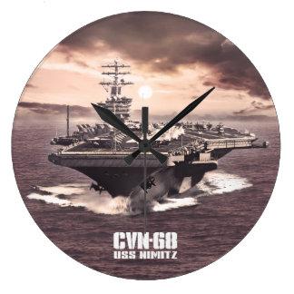 Aircraft carrier Nimitz Aif wallclock