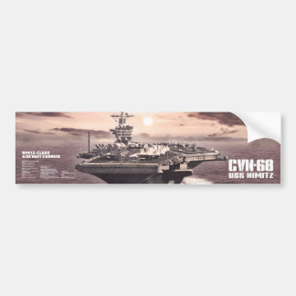Aircraft carrier Nimitz Bumpersticker Bumper Sticker