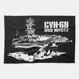 Aircraft carrier Nimitz Dawsonsf kitchentowel Hand Towel
