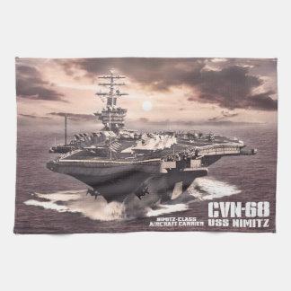 Aircraft carrier Nimitz Dawsonsf kitchentowel Kitchen Towel