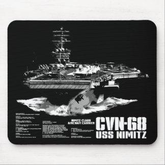 Aircraft carrier Nimitz Mousepad