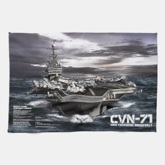 Aircraft carrier Theodore Roosevelt Hand Towels