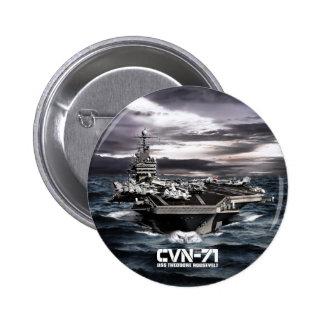 Aircraft carrier Theodore Roosevelt Pinback Button