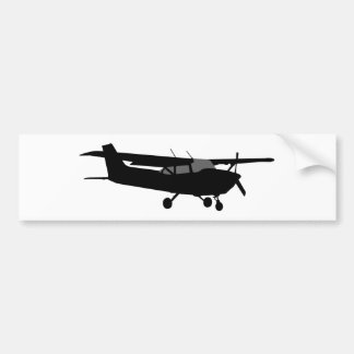 Aircraft Classic Cessna Black Silhouette Flying Bumper Sticker