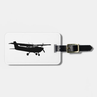 Aircraft Classic Cessna Black Silhouette Flying Luggage Tag