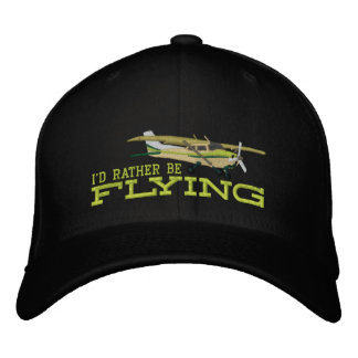 Aircraft Classic Cessna I'd Rather Be Flying Embroidered Hat