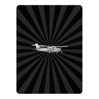Aircraft Classic Cessna Silhouette Flying Burst 17 Cm X 22 Cm Invitation Card