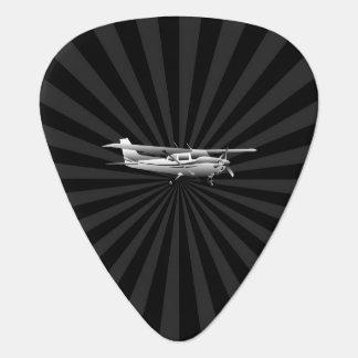 Aircraft Classic Cessna Silhouette Flying Sunburst Guitar Pick