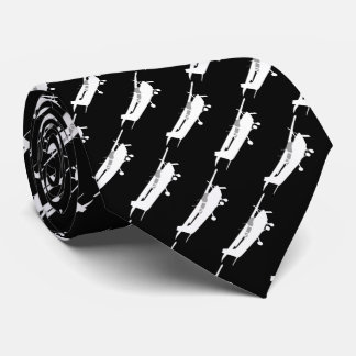 Aircraft Classic Cessna Silhouette Flying Tie