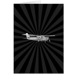 Aircraft Classic Cessna Silhouette Sunburst Card